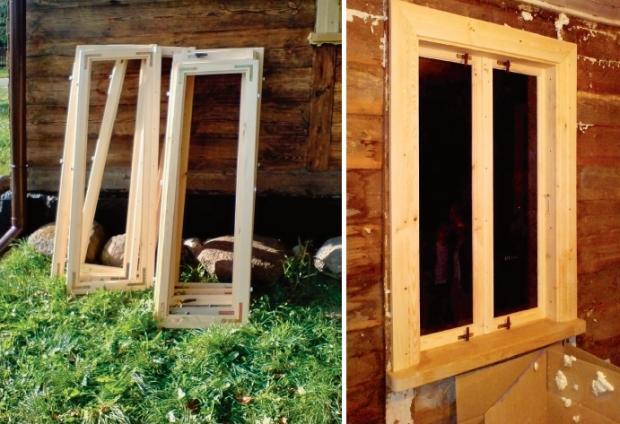 Okna do domu drewnianego