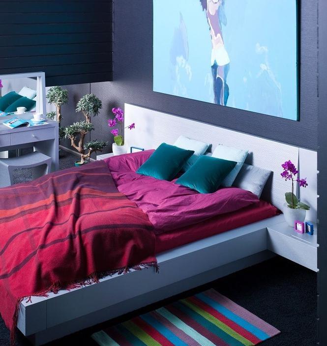 Kolory sypialni - zdjęcia wnętrz