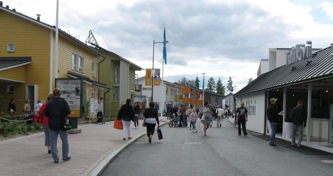 Uliczka na targach w Tampere