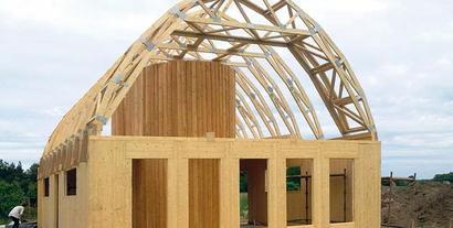 Energooszczędny dom ekologiczny - zbudowany z drewna i ogrzewany piecem