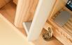 Okno z klamką na kluczyk