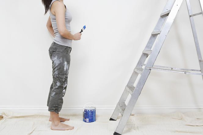 Malowanie na drabinie